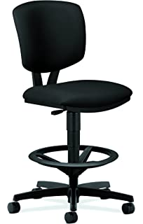 hon volt centertilt task stool for office or computer desk black fabric