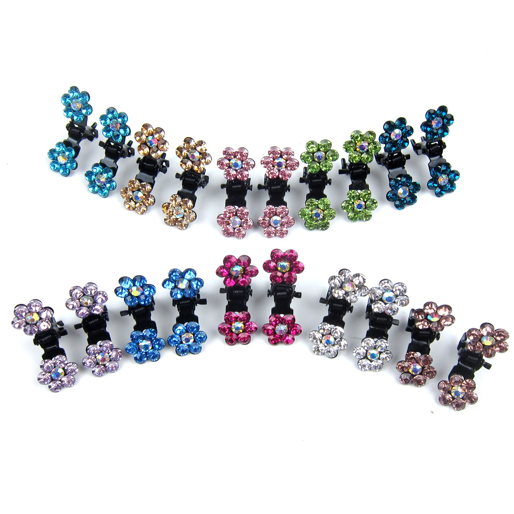 Alfie Pet by Petoga Couture - Dasie Rhinestone Flower Hair Clip 20-Piece Set for Dogs, Cats and Small Animals by Alfie (Image #2)