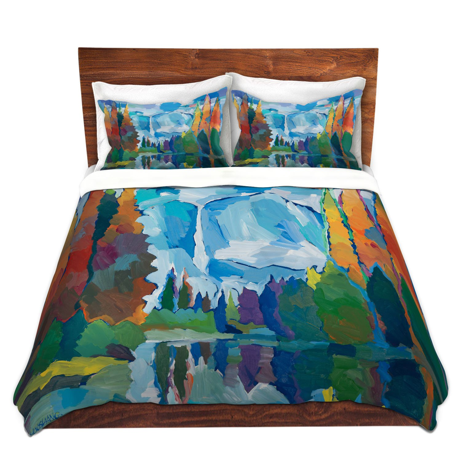 DiaNoche Designs Microfiber Duvet Covers by Hooshang Khorasani Window to Grandeur Twin ONLY