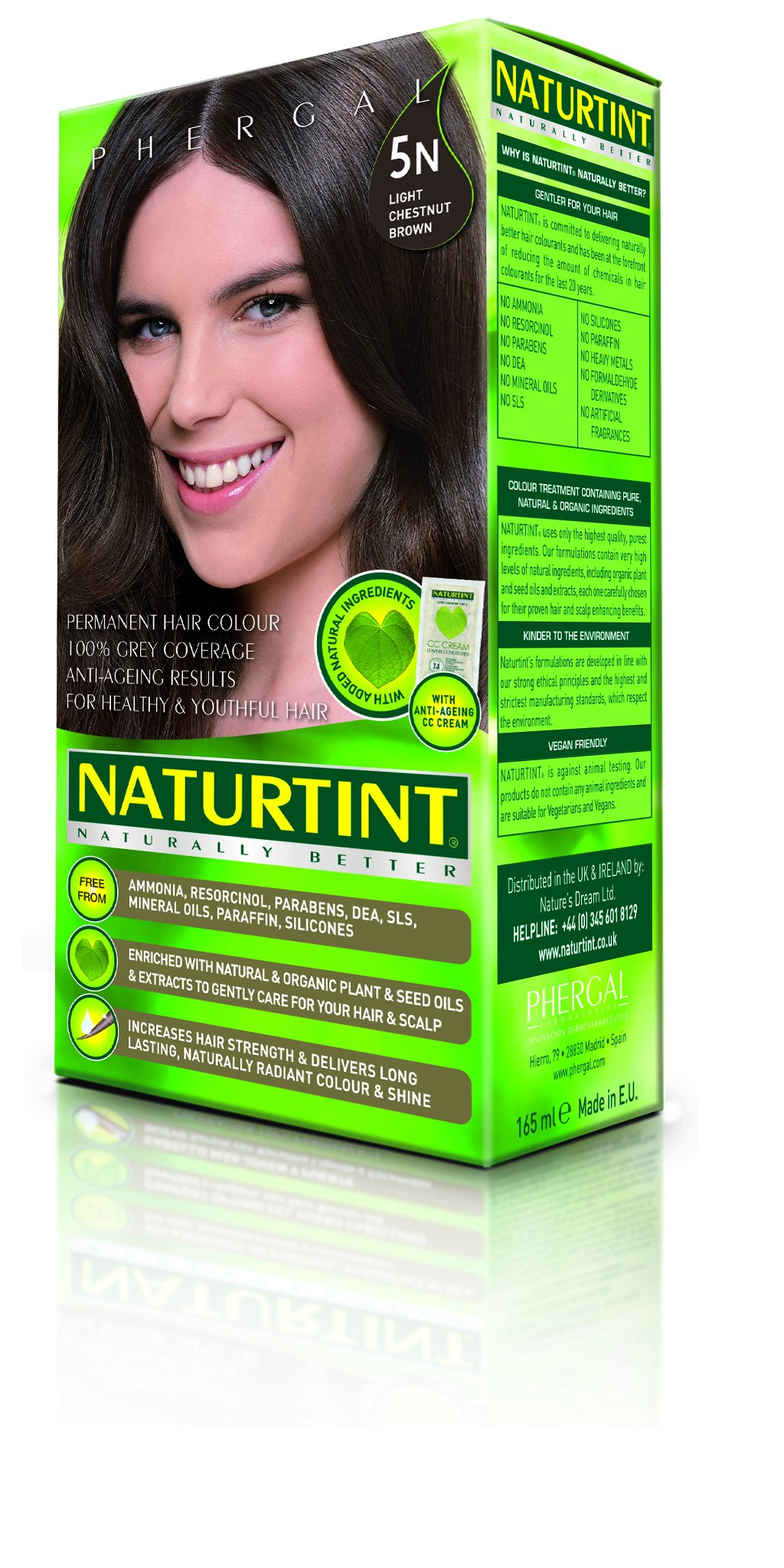 Naturtint Permanent Hair Colorant 5N Light Chestnut Brown -- 5.28 fl oz by Naturtint (Image #2)