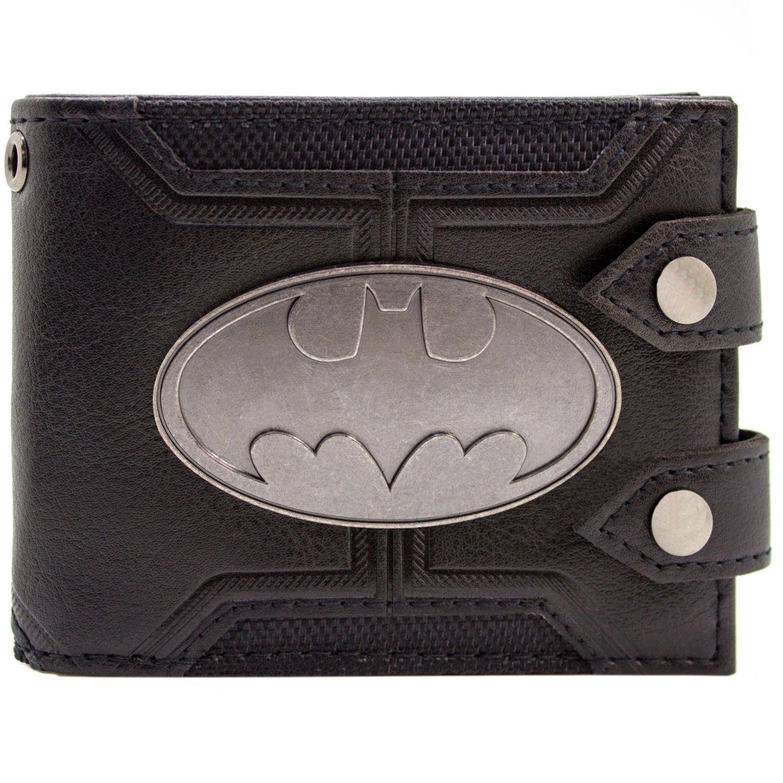 Cartera de DC Batman Insignia doble abotonado Negro 28927