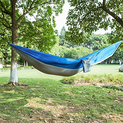 HomEco Camping Hammock Lightweight Nylon Parachute Travel Hammocks Double and Single Size