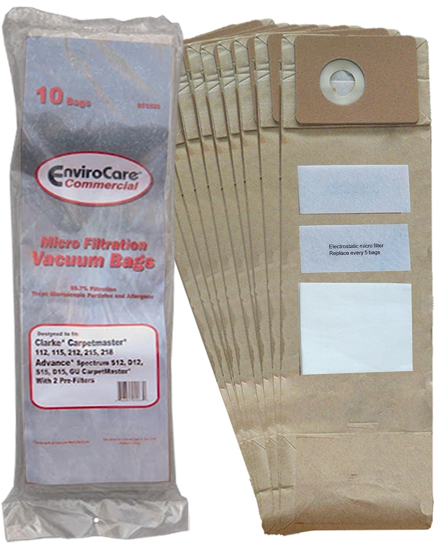 10 Advance Spectrum, Clarke, CarpetMaster, Nilfisk Allergy Vacuum Cleaner Bags + Exhaust & Pre Filters Filters 1471058500, 147 0966 500, 147 0960 5000