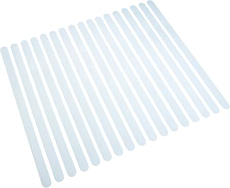 Bandes antid/érapantes Blanc Transparentes pour Les escaliers et marches 18 pi/èces Autocollantes marches