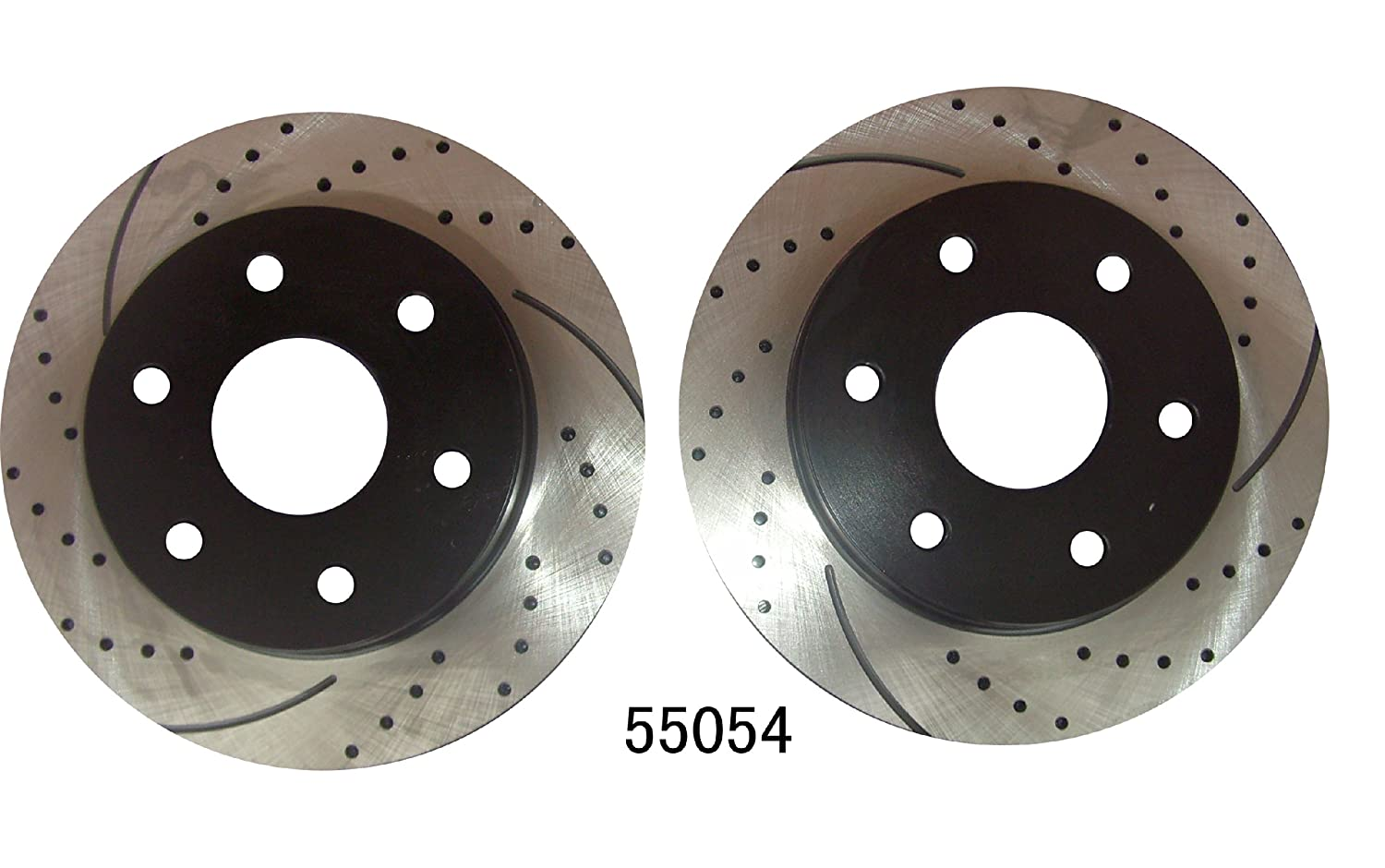 Front /& Rear Kit Performance Drilled//Slotted Brake Rotors and Carbon Fiber Pads Approved Performance G21176