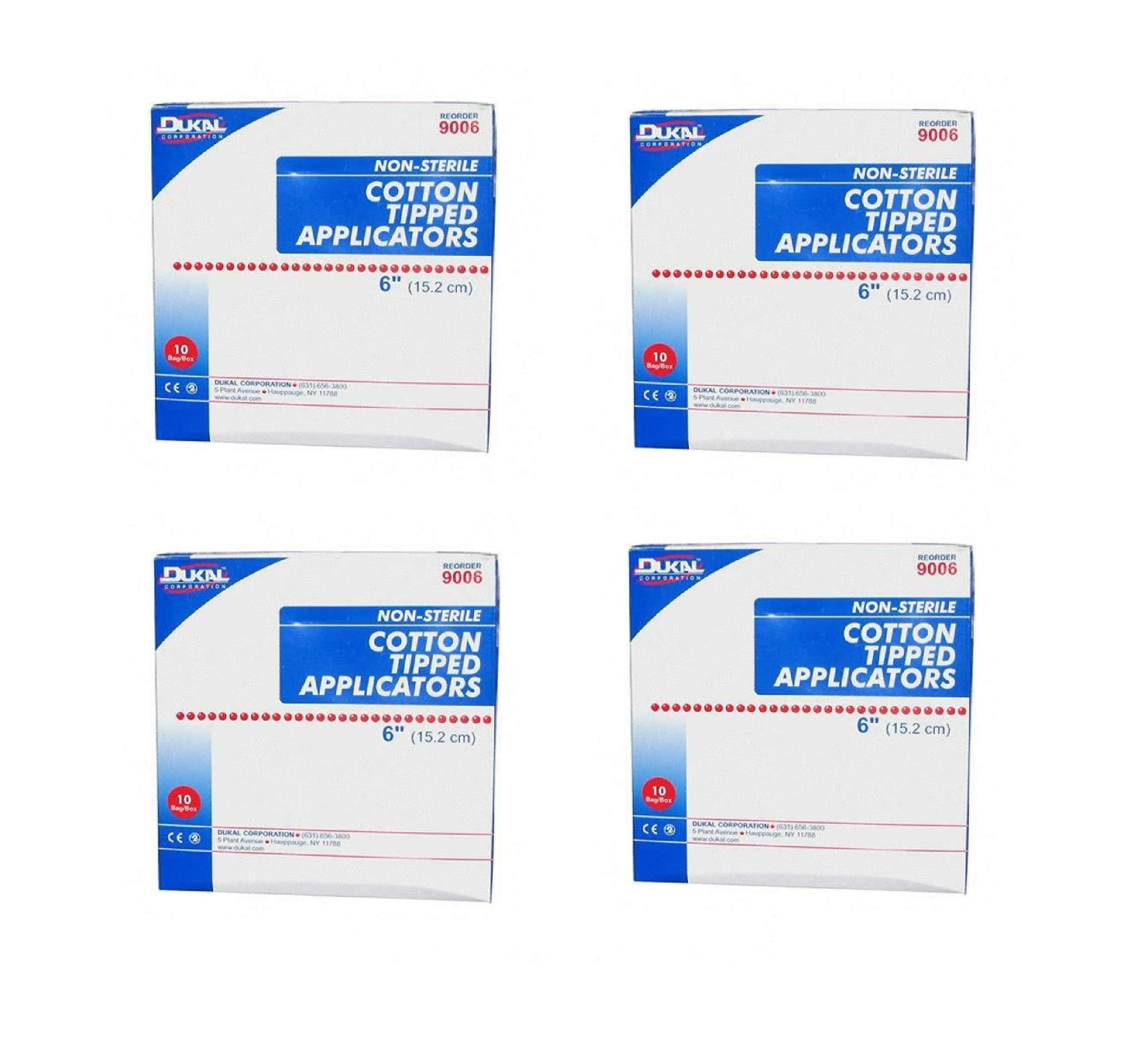 Dukal 9006 Non-Sterile 6'' Cotton Tipped Applicators 10 Bags (DKL9006), 1000 Count/Box (4 Pack) by Dukal (Image #1)