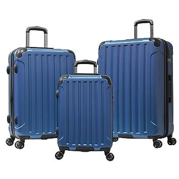 Amazon.com | Olympia Whistler Ii 3 Piece Luggage Set 21/25/29 Inch, Navy | Luggage Sets