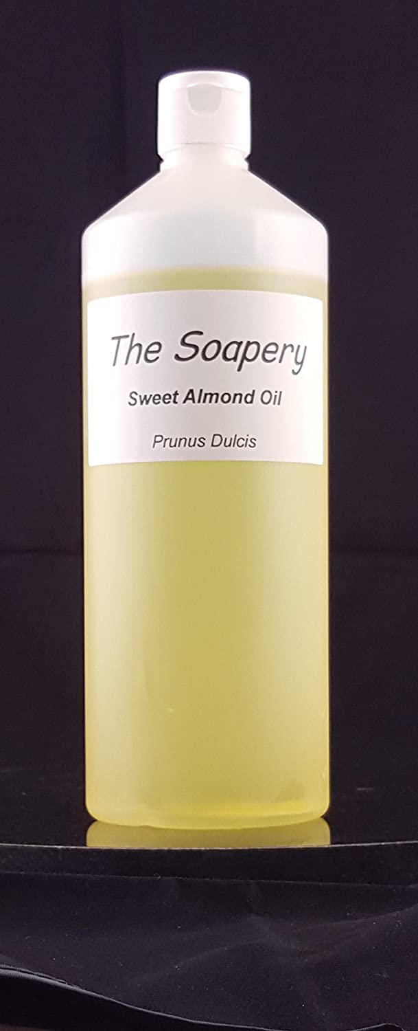 Sweet Almond Oil - 1 Litre Cosmetic Grade for Massage, Aromatherapy, Soaps, Lotions. The Soapery