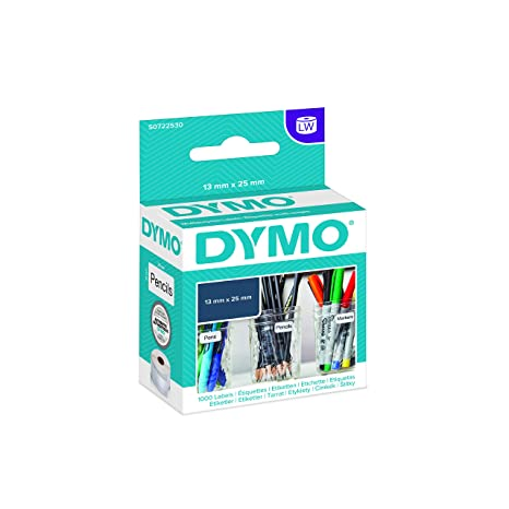 DYMO LabelWriter Multipurpose Labels - Etiquetas multiuso, negro y blanco