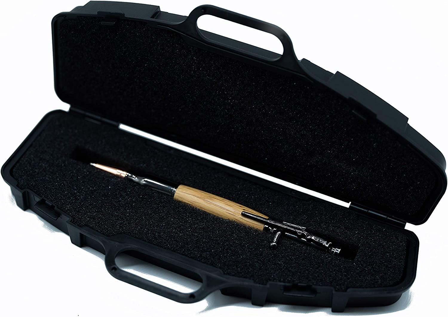 Bolt Action Pen with Case Hand Carved from Mango Wood