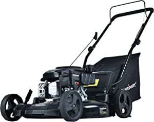 PowerSmart Lawn Mower, 21-inch & 170CC, Gas Powered Push Lawn Mower with 4-Stroke Engine, 3-in-1 Gas Mower in Color Black, 5 Adjustable Heights (1.2''-3.0''), DB8621PR-A