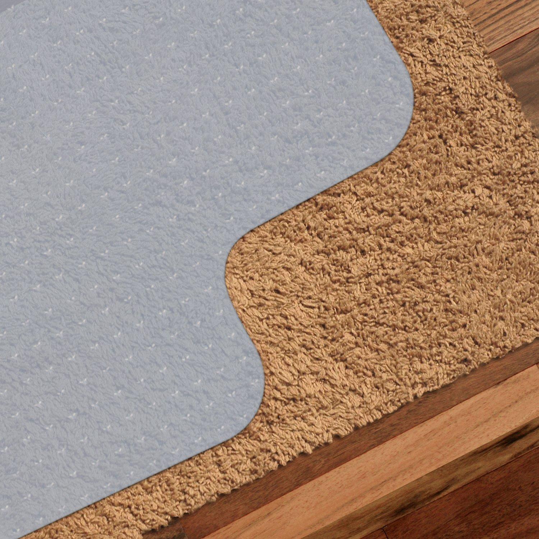 General 90 x 120cm Tappeto per Pavimenti PVC Tappeto con Chiodo per Sedie Ufficiale Tappeto Salvapavimento Office per Pavimenti