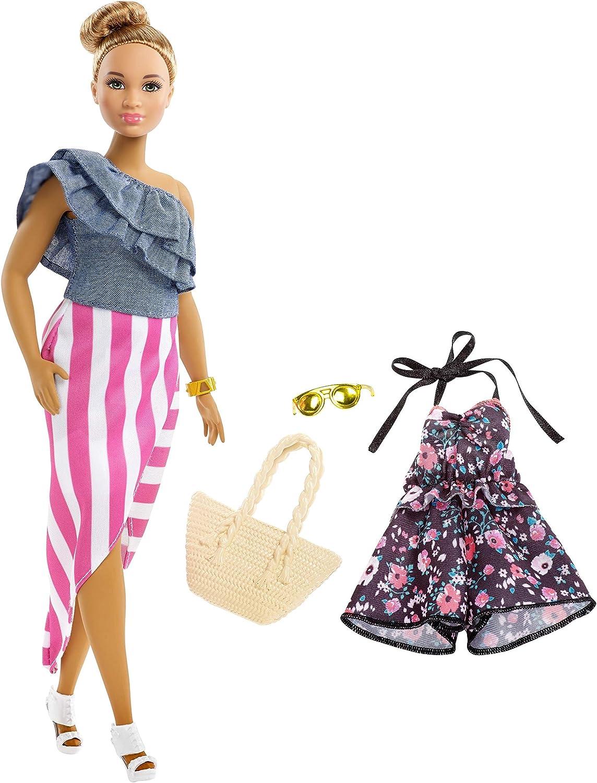 Amazon.es: Barbie- Muñeca Fashionista Latina con Modas, Multicolor ...