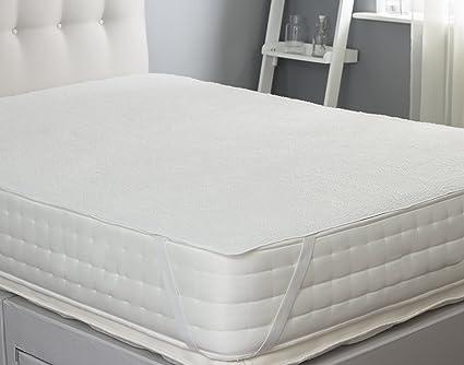 Silentnight - Protector de colchones de Lana, Color Blanco, Polar, Blanco, Matrimonio