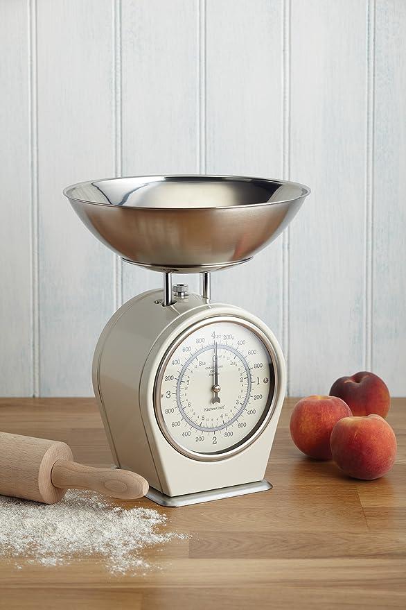 Kitchen Craft LNSCALECRE - Báscula de cocina, color blanco: Amazon.es