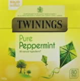Twinings Pure Peppermint 80 Tea Bags (Pack of 4, total 320 Tea Bags)