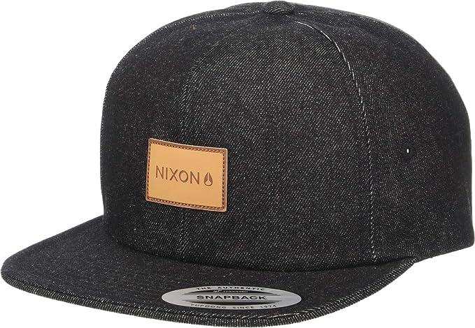 3e2e02f64d936 Amazon.com  NIXON Men s Mason Strapback Hat Black One Size  Clothing