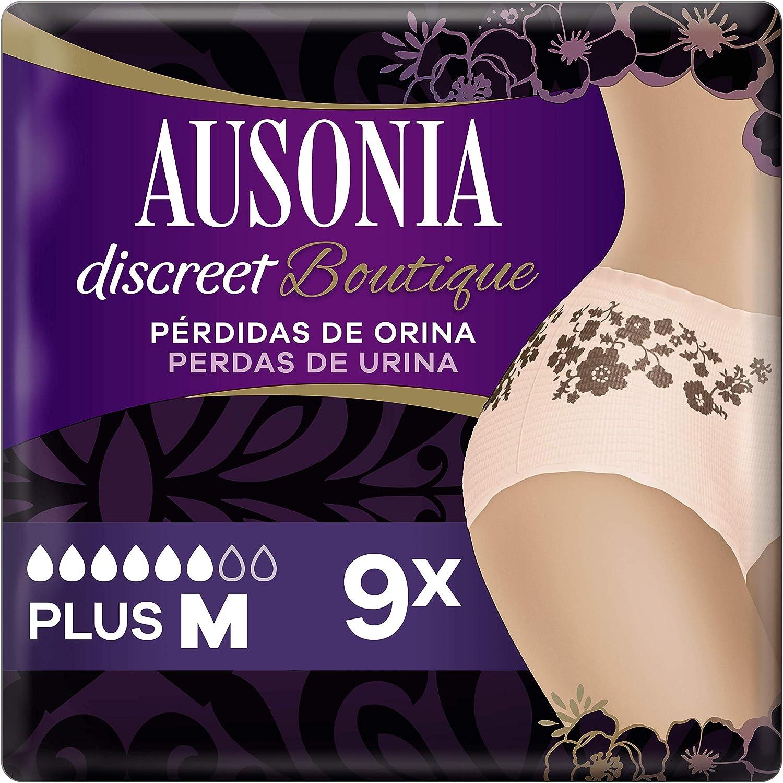 Ausonia Discreet Boutique Braguitas - Pants para Pérdidas de Orina M x 9 Color Salmón