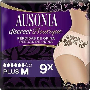Oferta amazon: Ausonia Discreet Boutique Braguitas - Pants para Pérdidas de Orina M x 9 Color Salmón