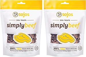 Sojos Sojos Simply Beef Dog Treats, Pack of 2