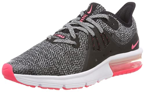 Nike Air MAX Sequent 3 (GS), Zapatillas de Running para Niñas, Negro (Black/White/Racer Pink 001), 36.5 EU: Amazon.es: Zapatos y complementos
