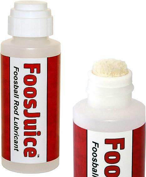Spot On FoosJuice 60mL - Lubricante 100% de Silicona para Varillas de futbolín con aplicador Superior Dauber: el lubricante Limpio y fácil de Usar: Amazon.es: Deportes y aire libre