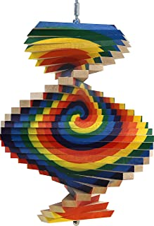 product image for Spiral Wood Wind Spinner - Made in USA