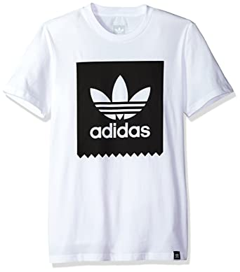 92f530aa67c43 adidas Skateboarding Men's Solid Blackbird Tee White T-Shirt: Amazon ...