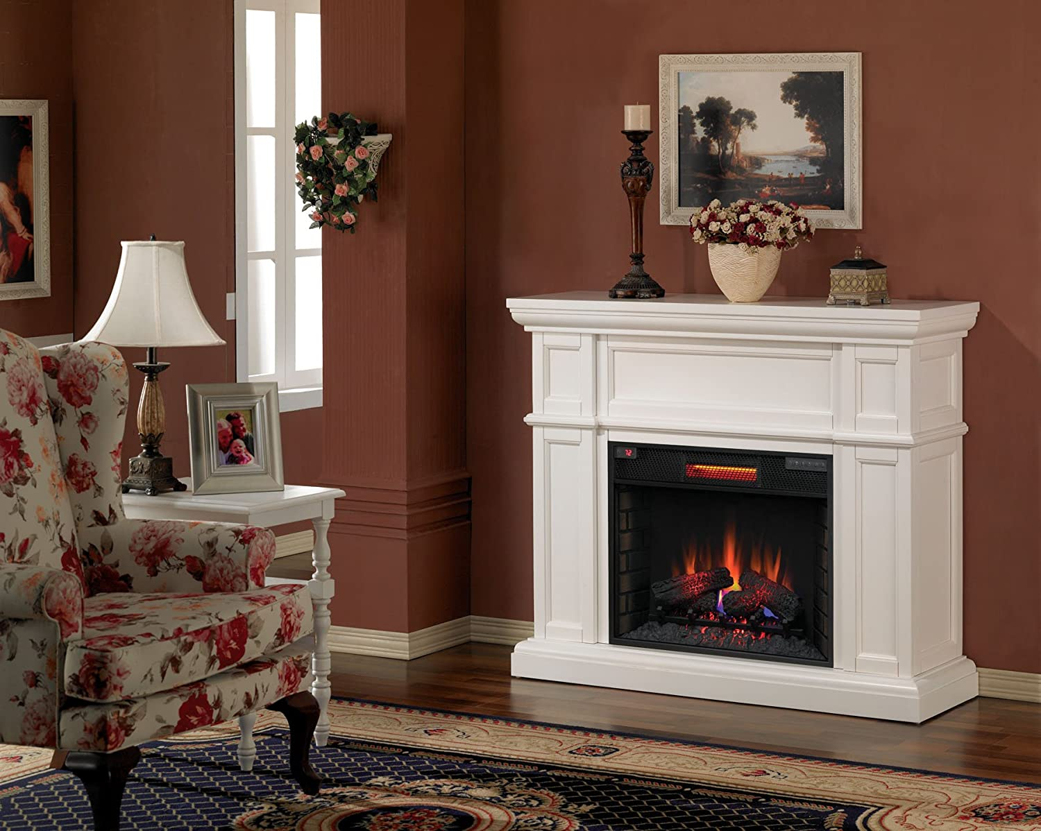 Amazon.com: ClassicFlame 28WM426 T401 Artesian Wall Fireplace Mantel, White  (Electric Fireplace Insert Sold Separately): Kitchen U0026 Dining
