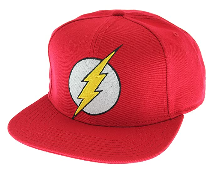 4f36a32ad73 Amazon.com  DC Comics The Flash Licensed Embroidered Logo Snapback ...