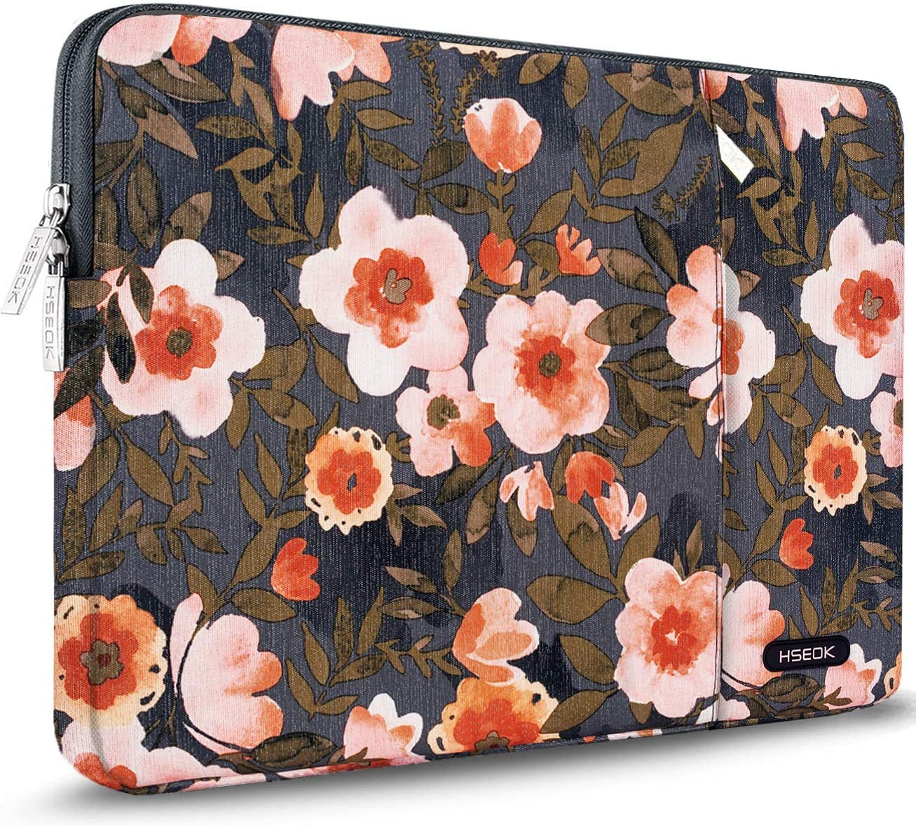 "HSEOK Golden Flower Laptop Sleeve 15-15.6 Inch Case for Most 15.6"" MacBook Notebooks, Spill and Drop Resistant Carrying Case for HP Lenovo ASUS DELL Toshiba"