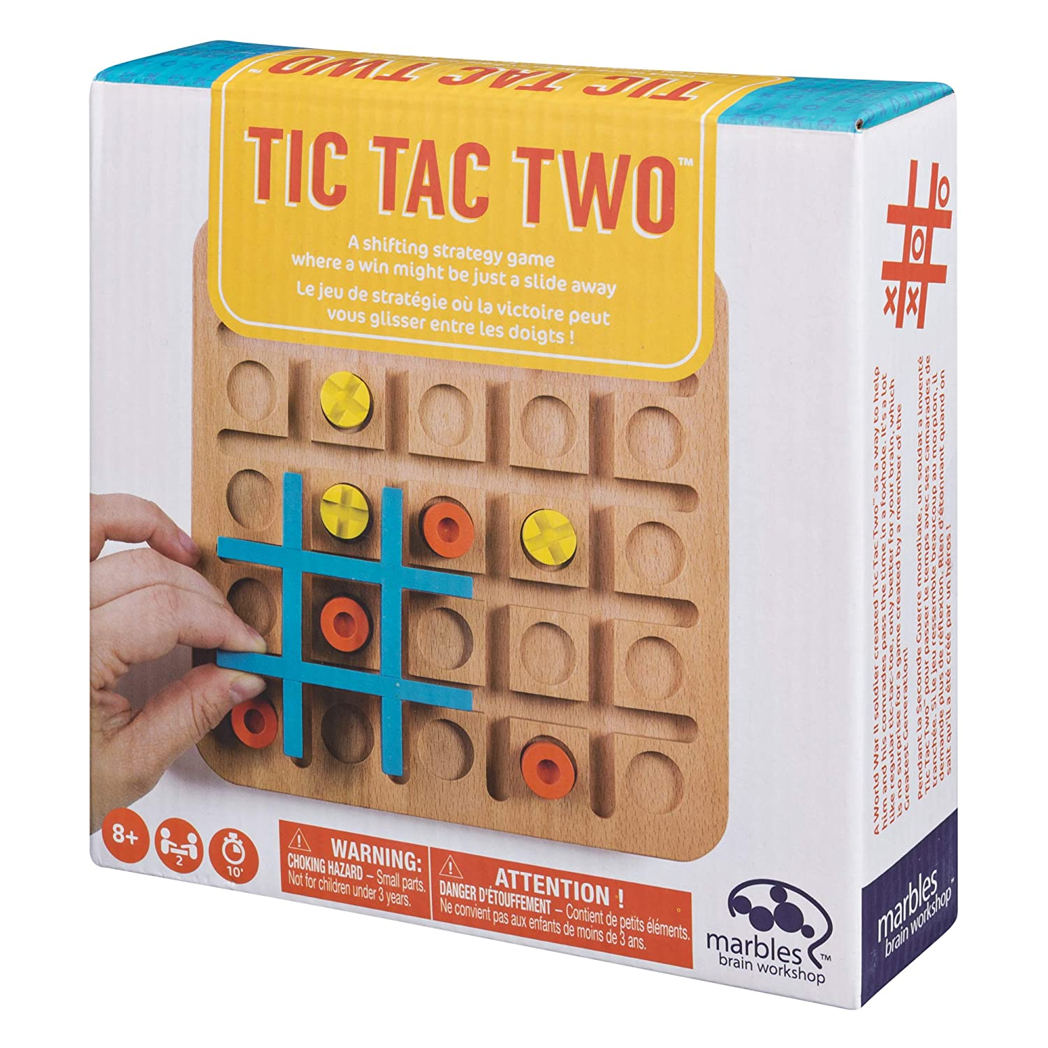 Marbles Tic Tac Two - Strategy-Based Board Game for Families, Board