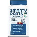 SmartyPants 男性日常完整维生素软糖:不含麸质,素食,多种维生素和Omega-3,维生素D3,维生素B12,120粒(30天量)