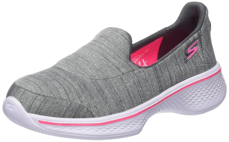 Skechers Kids Girls' GO Walk 3 Slip-on, Black/Hot Pink, 6 M US Big Kid