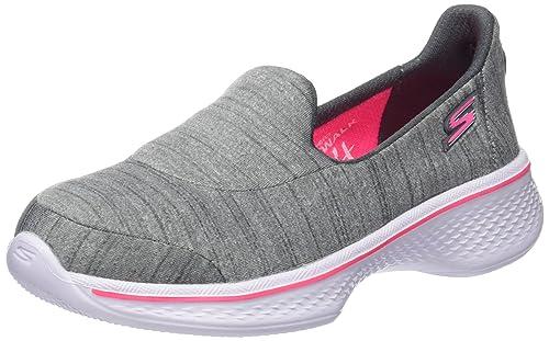 Skechers Go Walk 4, Zapatillas para Niñas, Gris (Gry), 33 EU
