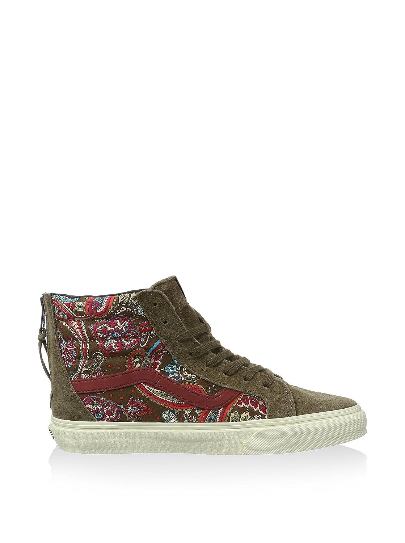 Amazon.com | Vans SK8 Hi Zip CA Paisley Olive Mens Skate Shoes Size 9 |  Shoes