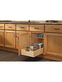 Rev A Shelf   4WDB 15   Medium Wood Base Cabinet Pull