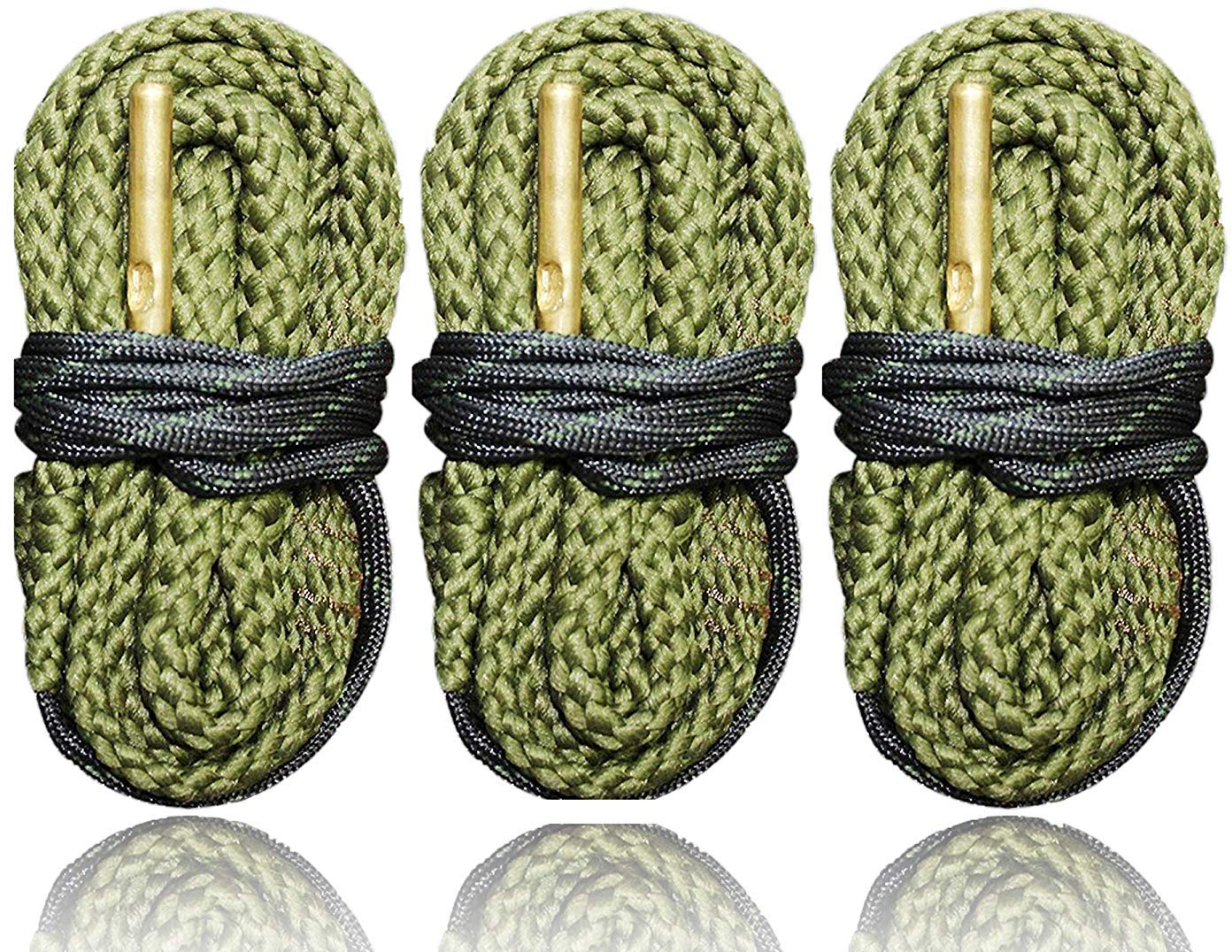 3 Pack of 9 MM Pistol Bore Cleaning Snakes, Completely Washable, Very Tough - Quickly Cleans Your Guns Bore - Fits Most 9mm .380 .38 and .357 Pistols - Ships from US Cobra Bore Snakes by Big Country