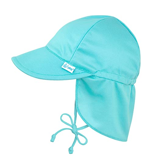 7586773a4ae Amazon.com  i play. Baby   Toddler Breathable Swim   Sun Flap Hat ...