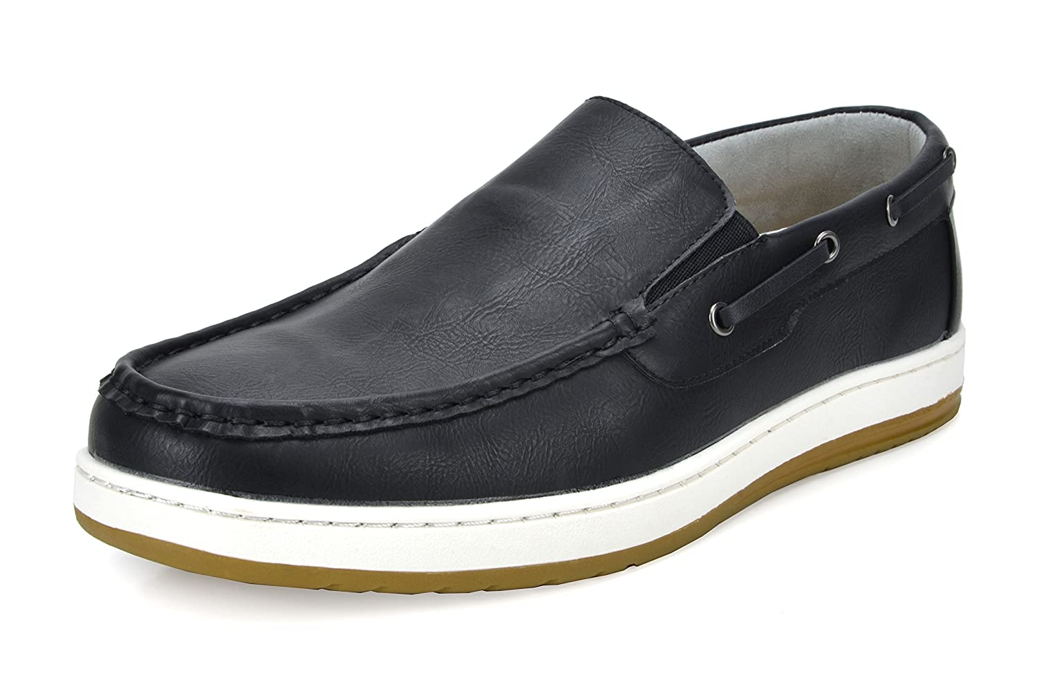 BRUNO MARC NEW YORK Men's Pitts Penny Loafers Moccasins Boat Shoes