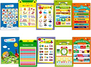 10 LAMINATED Educational Posters For Toddlers 13 X 19Includes Alphabet
