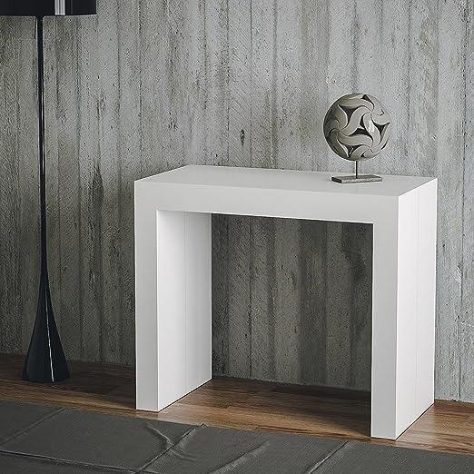 Mesa consola extensible fabricada en Italia de diseño moderno, 14 ...