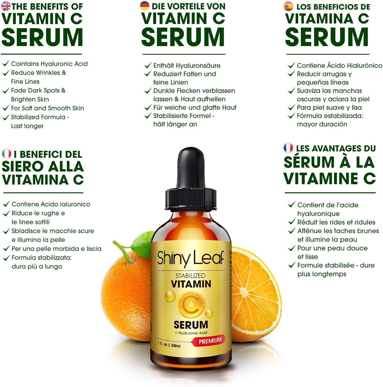 Serum Vitamina C con ácido hialurónico para rostro, sérum ...