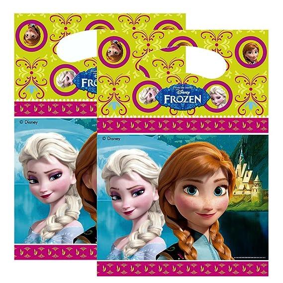 Disney Bolsas de Regalo | 6 Piezas Frozen | Niños Cumpleaños ...