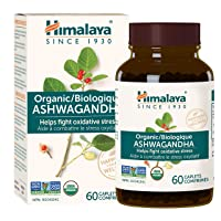 Himalaya Organic Ashwagandha, Natural Stress Relief, Energy Supplement, 670 mg, 60 Caplets, 2 Month Supply