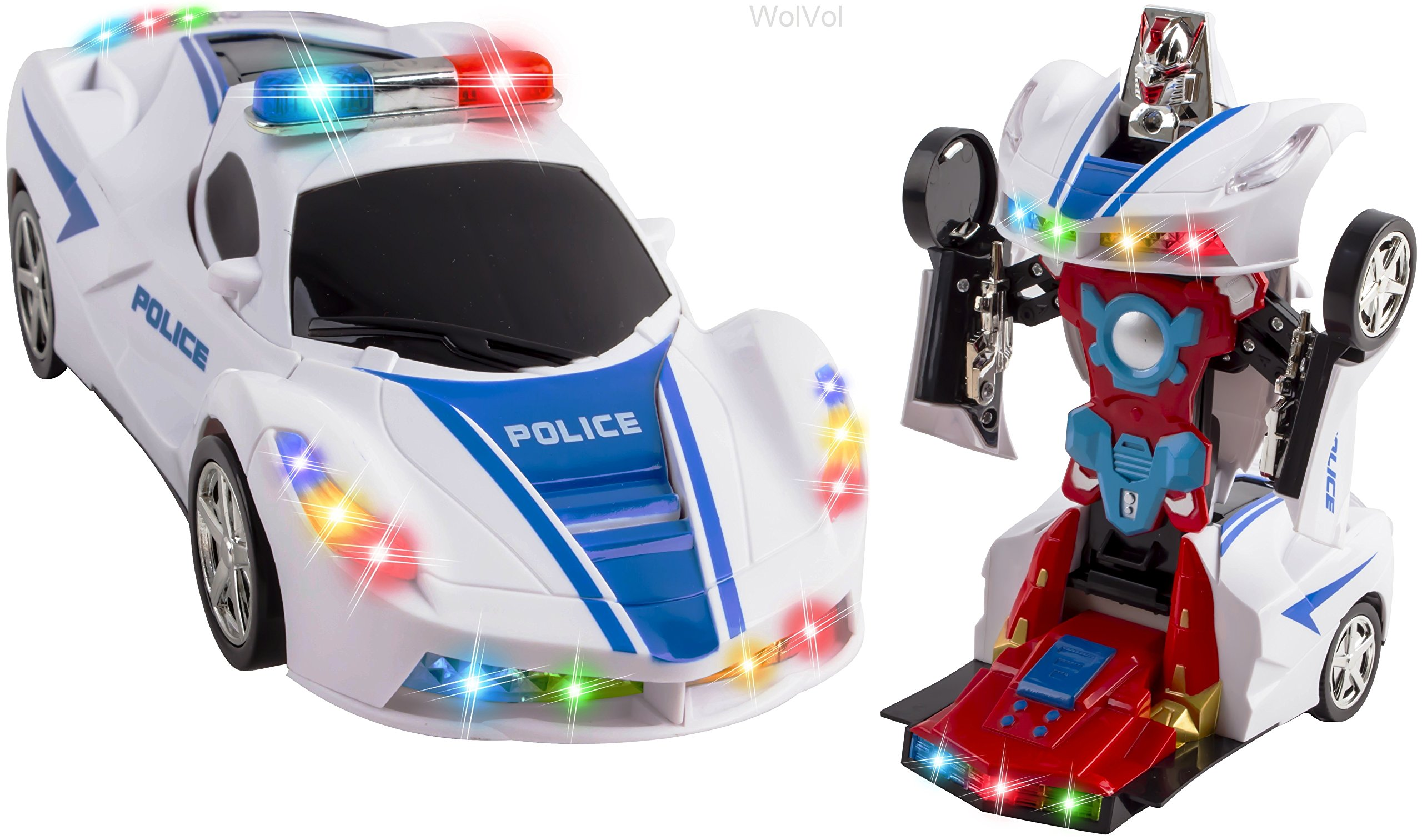 Police Toys For Boys : Toys for boys transformers robot police car kids xmas gift
