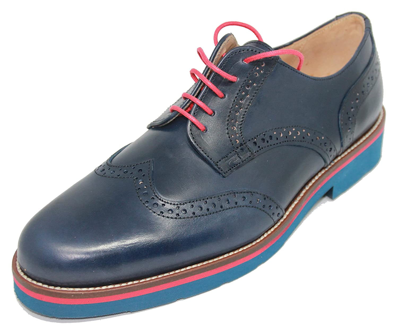 John Coleman zapatos de Cordones de Pala Vega Piel de Becerro Color azul Marino para Hombre