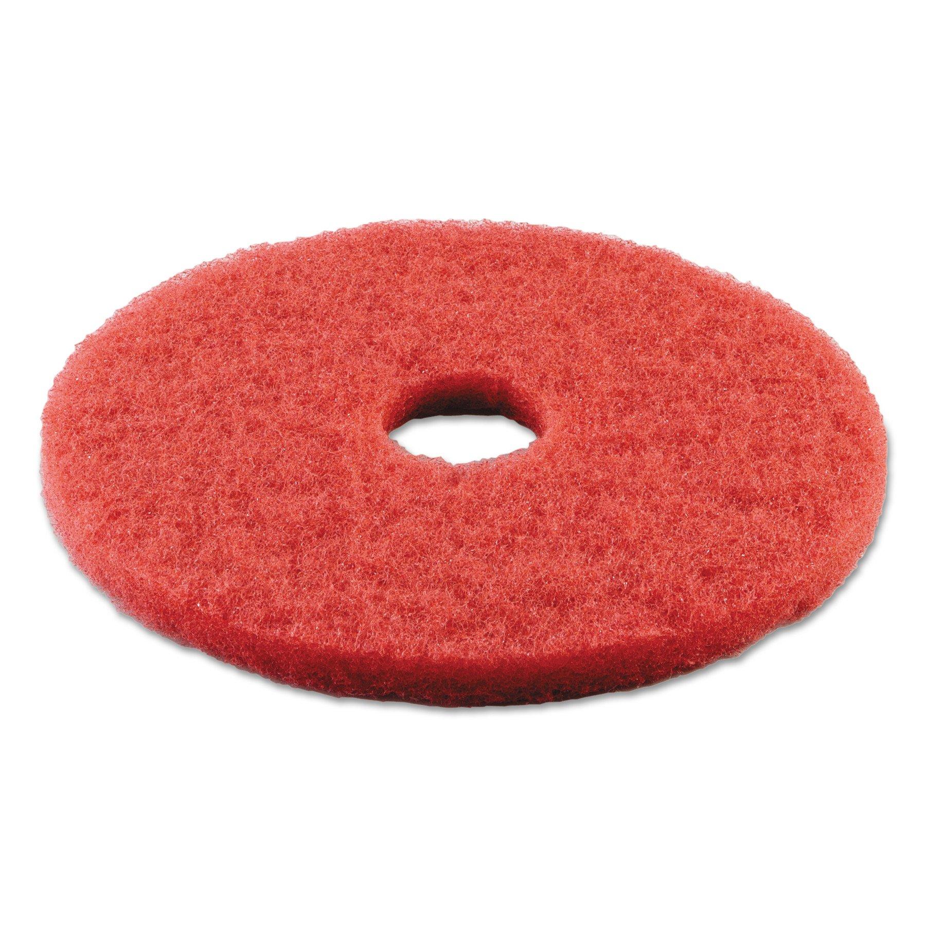 Boardwalk 4014RED Standard Buffing Floor Pads, 14'' Diameter, Red (Case of 5)