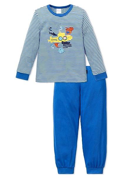 Schiesser Pijama Chico Largo 151768 - Azul, 98