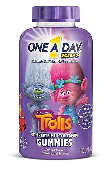 Amazoncom One A Day Kids Trolls Multivitamin Gummies 180 Count